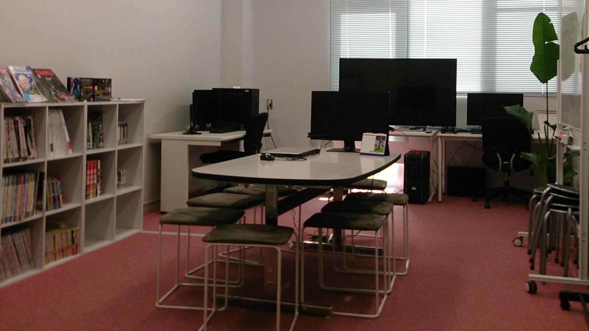 制作中のゲームの内容を確認するためのミーティングスペース